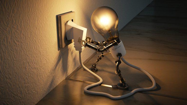 light bulb turning by a socket
